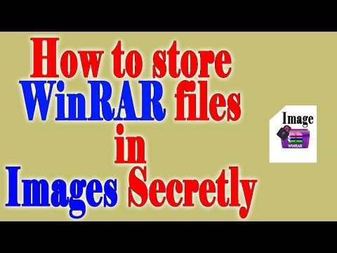 How to store WinRaR files in Image Secretly....
