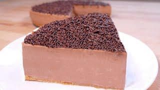 tasty No bake chocolate cake - easy food dessert to make at home