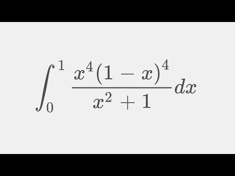 22/7 is greater than pi using integral x^4(1-x)^4/(x^2+1) from 0 to 1  ( old putnam exam problem )