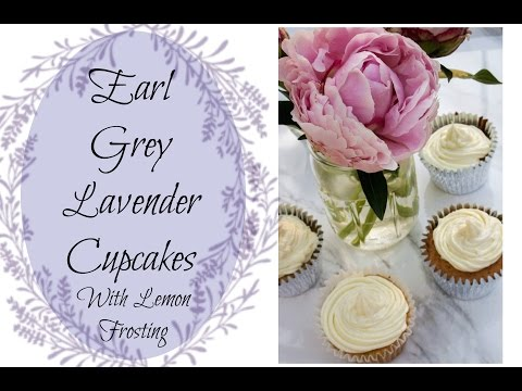 Earl Grey Lavender Cupcakes with Lemon Frosting