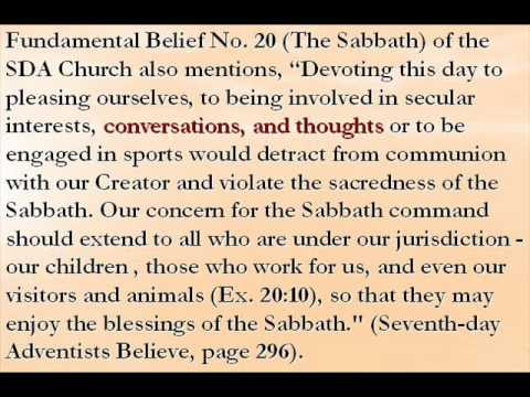SDA Church - How UNHOLY have you kept the Sabbath?