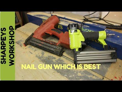 Nail gun electric vs air