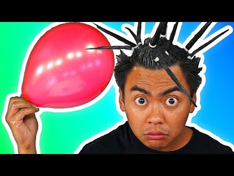 I Tried Popping Balloons With My Hair!