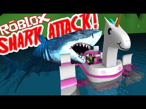 Twin Toys Plays Roblox:  Shark Bite