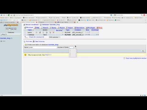 PHP & MySQL Tutorial 10: Starting a Basic Blog Part 1