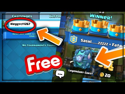 SECRET CODE TO GET A LEGENDARY CHEST IN CLASH ROYALE-100% WORKING WITH PROOF 2017