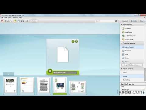 How to create a PDF portfolio | lynda.com tutorial