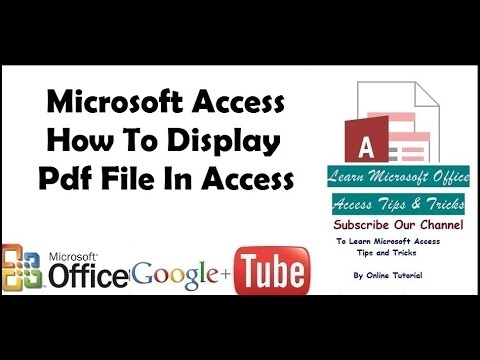 Microsoft Access How To Display Pdf File In Access