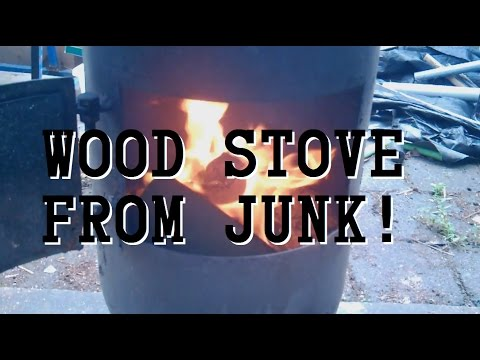 DIY Wood Stove from Scrap Air Compressor Tank!