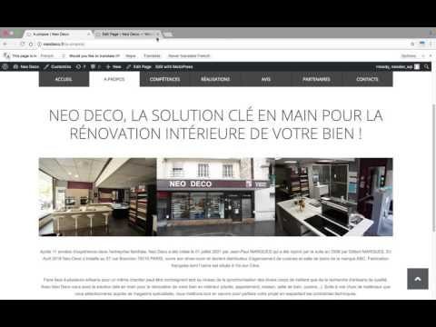 Modification de contenu simple sur l'éditeur Wordpress