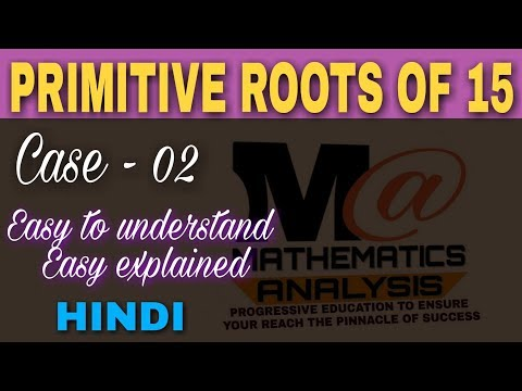 Primitive roots of 15 🔥| in hindi