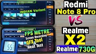 Redmi Note 8 Pro vs Realme X2 ( Realme XT 730G ) : Pubg and Heat Test