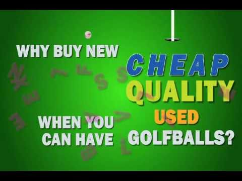 Cheap Recycled Golf Balls
