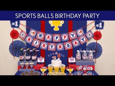 Sports Ball Birthday Party Ideas // Sports Ball - B120