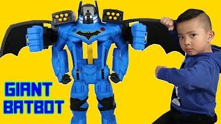 Giant Batbot Xtreme Transforming Robot With Voice Changer Unboxing With Ckn Toys