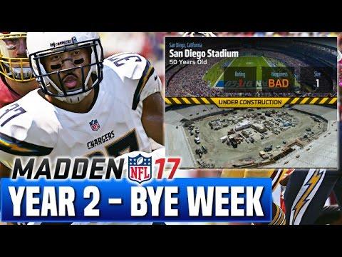 Bye Week Recap & NEW Stadium - Madden 17 Chargers Franchise Year 2 Week 10 | Ep.33