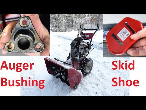 Craftsman / Murray Snow Blower Auger Bearing and Skid Shoe Replacement