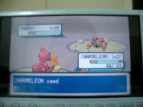 Batalhas em MT. MOON. no Pokémon Fire Red version no PSP
