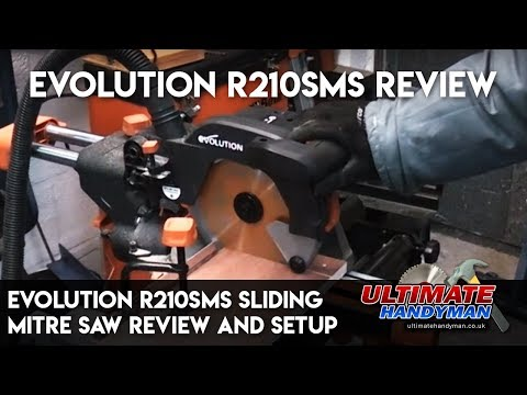 evolution R210SMS | sliding mitre saw review and setup