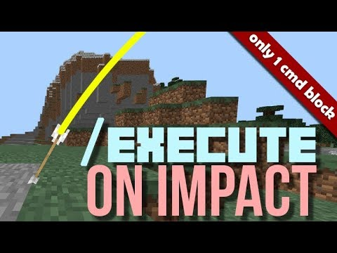 How to execute when arrow hits the ground (ANY BLOCK) in Minecraft PE with command blocks
