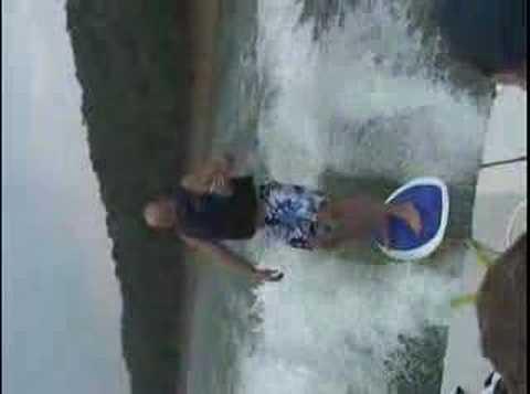 Thom Bradley Water Ski Surf behind ski boat - No Ski Rope