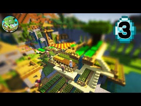 Transform a Minecraft Village into a Town E03 - FARMS!
