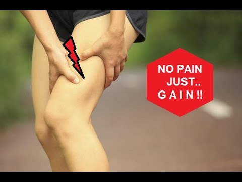Treatment exercises for thigh after muscle strain (quadriceps, hamstrings)