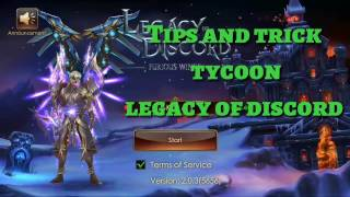 Tips and trick tycoon legacy of discord