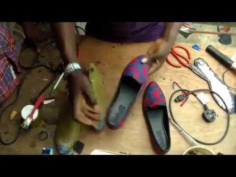 How to make  Ankara flat shoe DIY