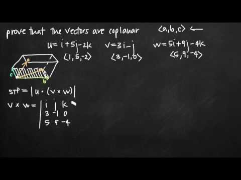 Scalar triple product to verify the vectors are coplanar (KristaKingMath)