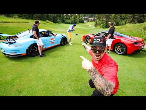 DRIVING SUPERCARS AS GOLF CARTS Ferrari 488 & Porsche GT3RS *Predator Ridge*