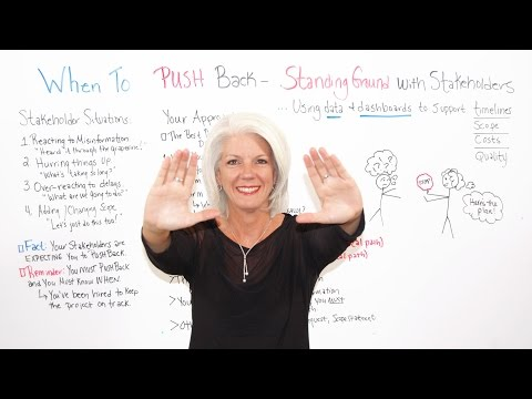 When to Push Back with Project Stakeholders - Leadership Training