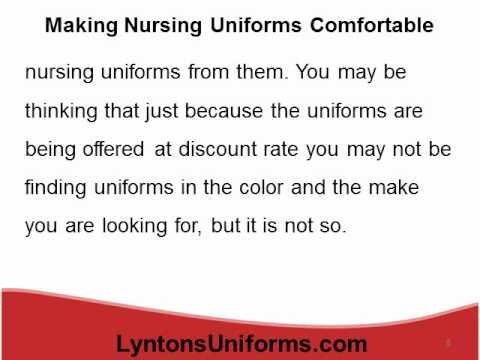 Making Nursing Uniforms Comfortable