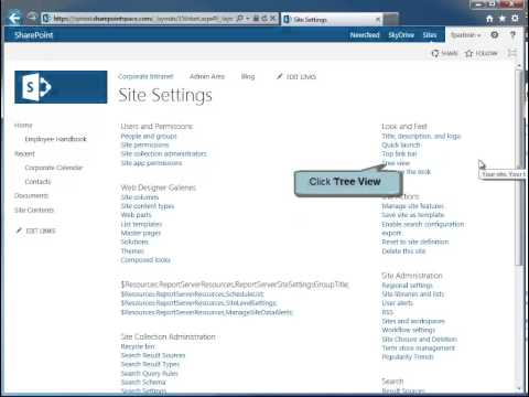 How to Enable Tree View in SharePoint 2013 - SharePoint 2013 Tutorials