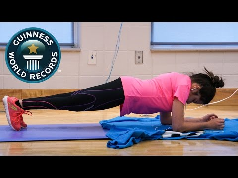 SPOTLIGHT - Longest plank by female