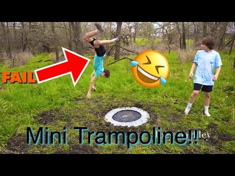 Mini Trampoline In Ground!!