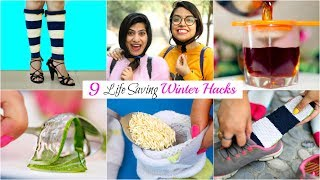 9 LIFE Saving WINTER HACKS You MUST TRY | #BeautyHacks #Fun #Anaysa