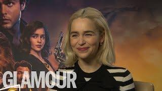 Emilia Clarke: Who's The Best Kisser, Jon Snow or Han Solo? | GLAMOUR UK