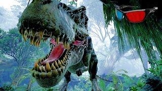 Dinosaur 3D Anaglyph 3D Jurassic Park Simulation [HD 3D RED/CYAN]