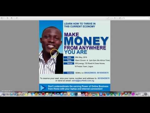 make money from home in Nigeria, Home base online business in Nigeria