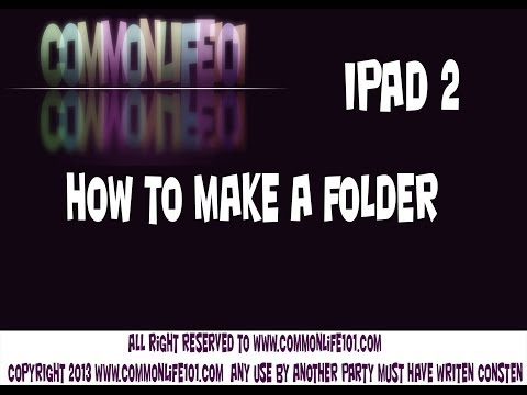 how to make a folder on your ipad