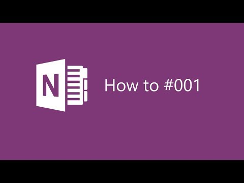 OneNote 2016 Tips #001 Creating a Class Notebook