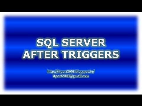 After Triggers in SQL Server