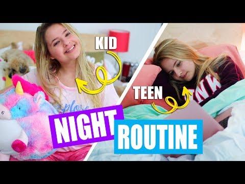 Kid vs. Teen Night Routine For School!