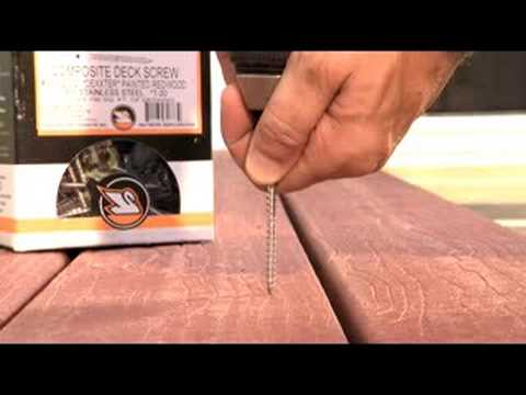 Dexxter stainless screw for composite decking