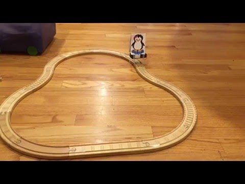Penguin Vibration Robot Going Along Train Track