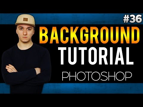 Adobe Photoshop CC: How To Add A Black Background EASILY! - Tutorial #36