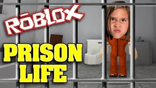 LOCKED UP!!! JIllian plays ROBLOX: PRISON LIFE!