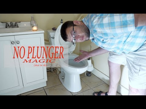 How to unclog a toilet with NO PLUNGER