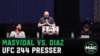 UFC 244: Jorge Masvidal vs. Nate Diaz Full Press Conference